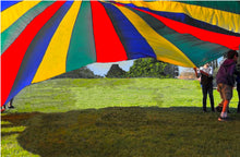 Load image into Gallery viewer, Cintz 20' Multicolored Play Parachute with 20 handles in a bag