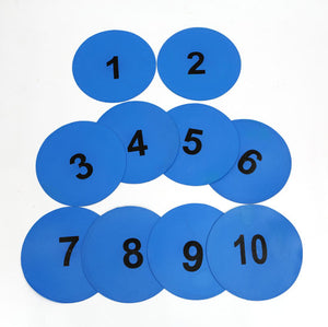 Rubber Poly Spots-Numbered