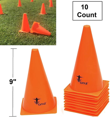 Cintz Marker Cones (Set of 10), 9-Inch, Orange