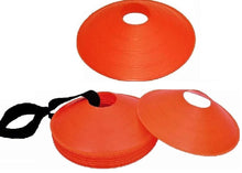 "Load image into Gallery viewer, Cintz 2"" Orange Field Cone Markers, Set of 20, with a carry strap"