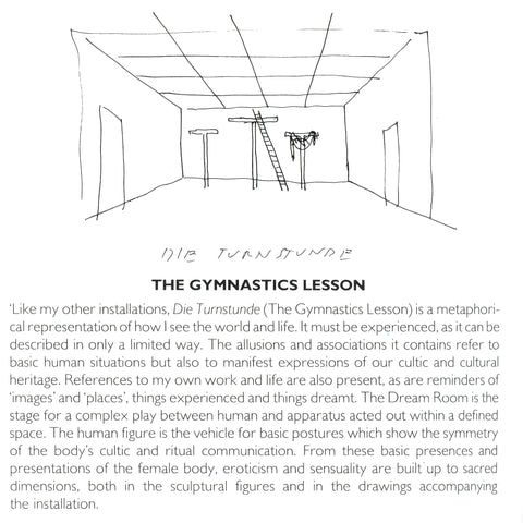 "Hans Hollein sketch relating to 1984 exhibition ""The Gymnastics Lesson"""