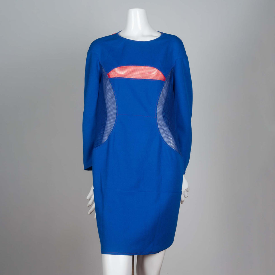 Junya Watanabe CDG Blue and Pink Mesh Dress, 2012