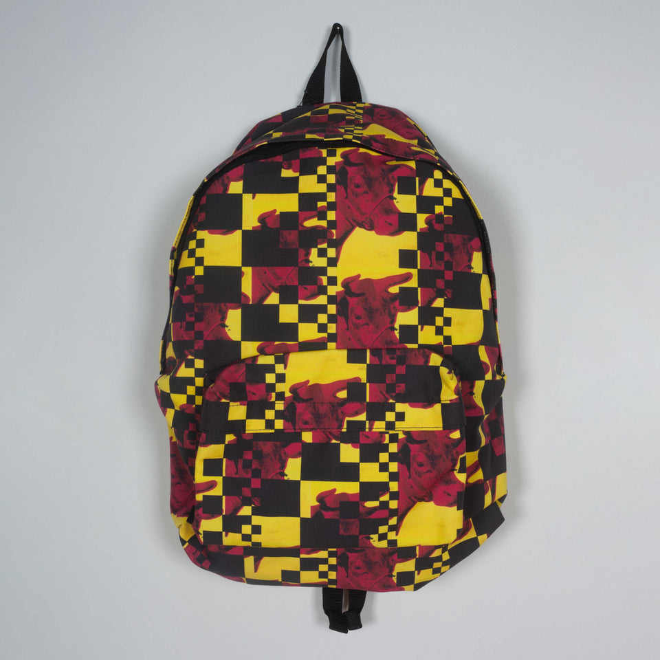 Comme des Garçons Andy Warhol Foundation pop art nylon backpack.