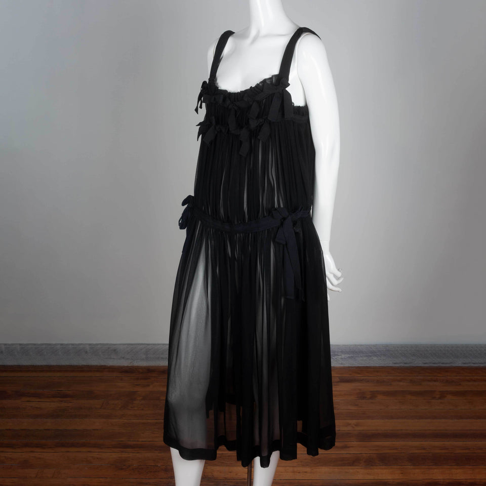 An oversized black chiffon dress from Japan by Comme des Garçons Tricot, vintage archive 2011.
