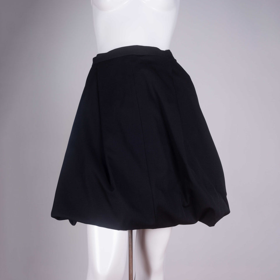 Comme des Garçons 1990 voluminous black wool skirt from Japan.