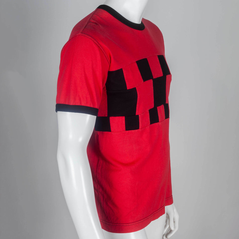 Comme des Garçons Homme Plus 2003 red and black short sleeve tee from Japan.
