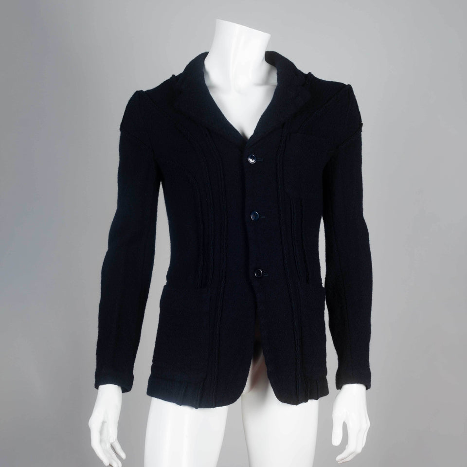 Comme des Garçons Homme Plus 2003 single-breasted wool jacket.