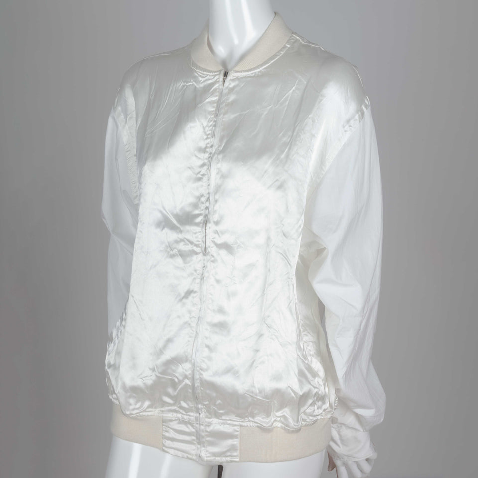 Comme des Garçons off-white bomber style shirt from Japan.