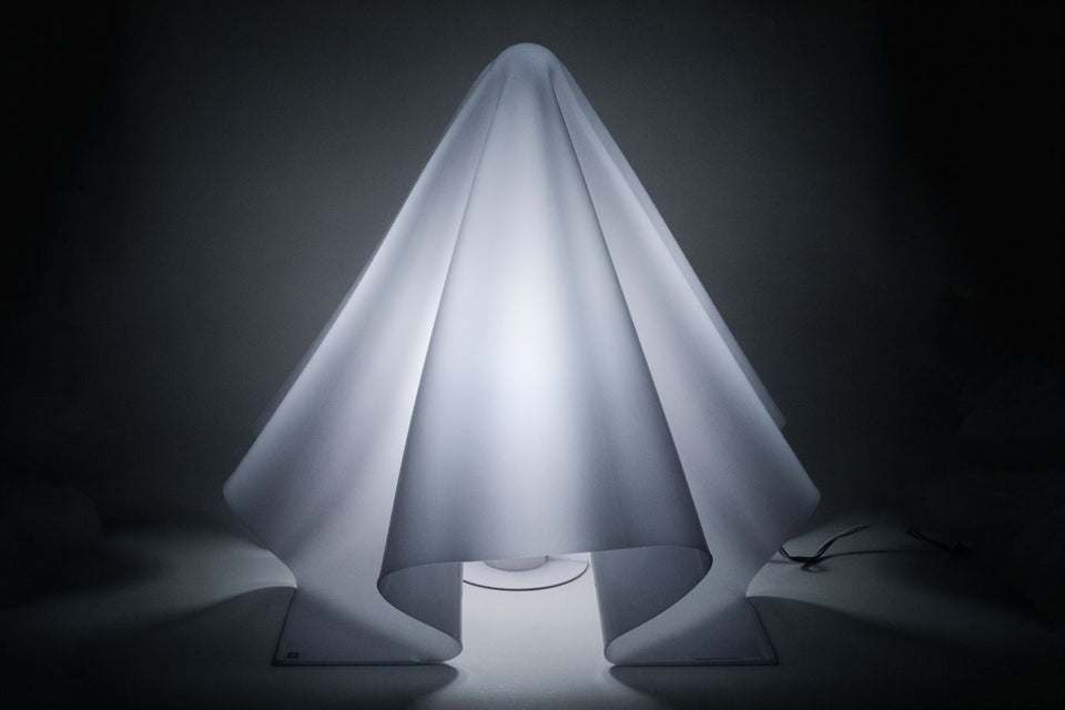Large White Ghost Lamp by SHIRO KURAMATA, Japan, 1970s