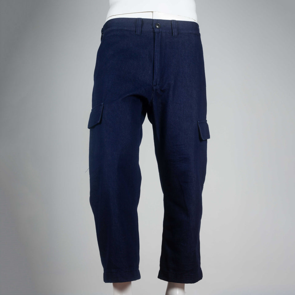 Junya Watanabe Comme des Garçons Man 2016, cargo pants from Japan in deep indigo denim.