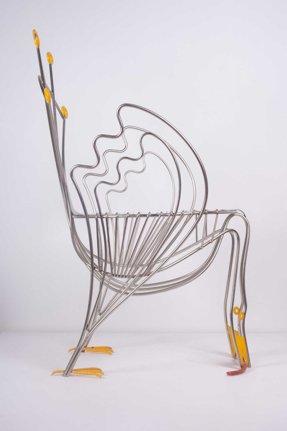 Pavone Chair by Riccardo Dalisi, limited edition for Zabro (Zanotta)1986
