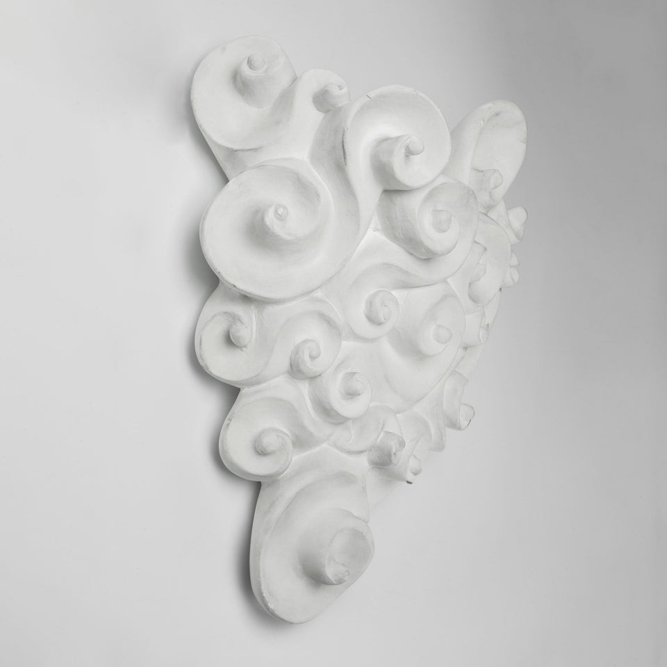 White Staff Sconce by JEAN BOGGIO for LES HERITIERS, France, 1990s