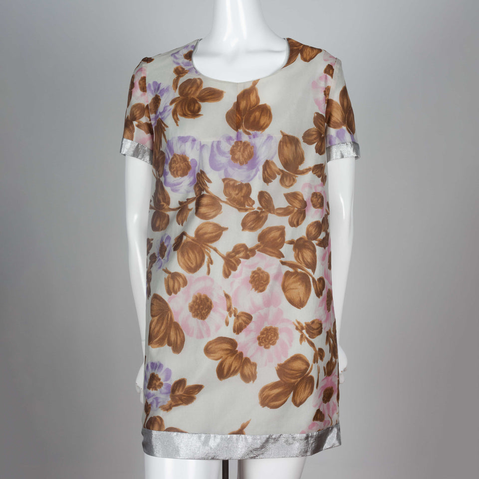 Comme des Garçons nylon dress from Japan with floral pattern dated 1993.