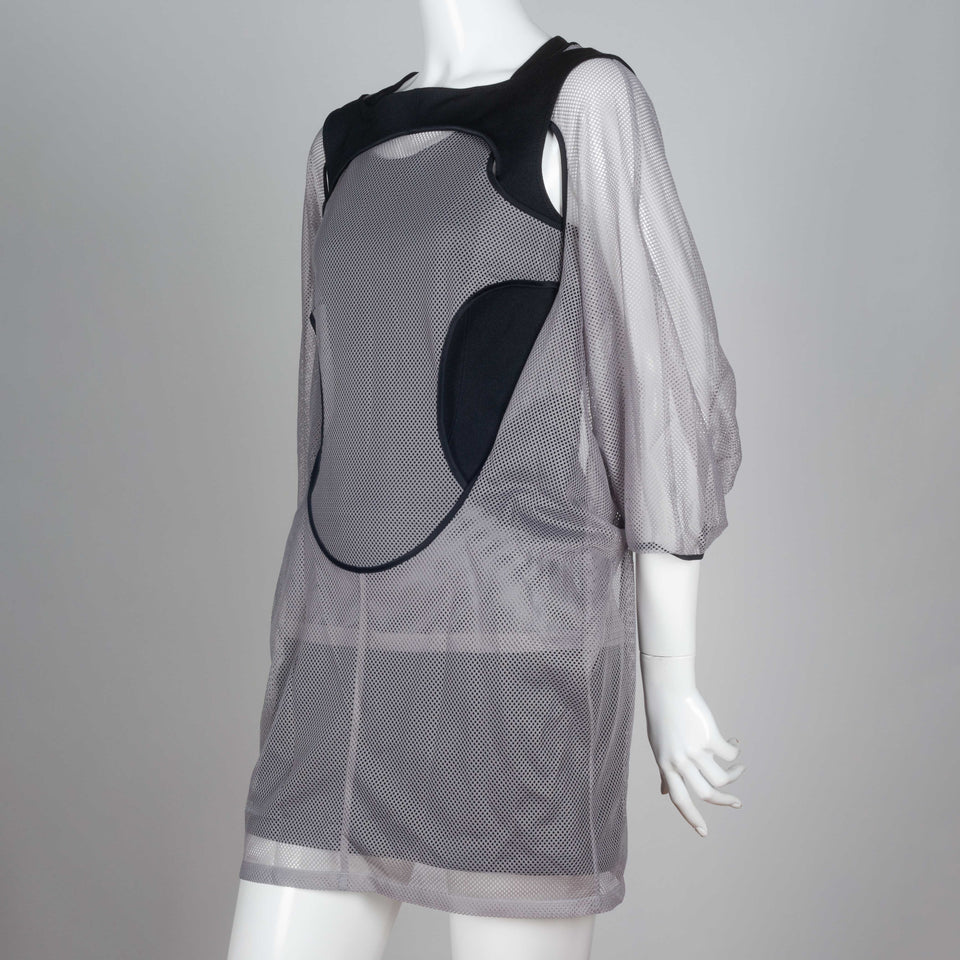 Junya Watanabe x Comme des Garçons 2012 grey and black long sleeve dress from Japan.