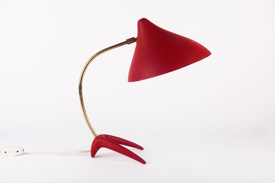Biomorphic mid-century Dutch table lamp designed by Louis Kalff in the 1950s.
