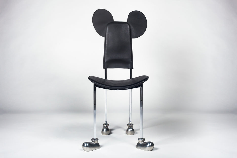 Leather Mickey Mouse chair by Javier Mariscal, 1987.