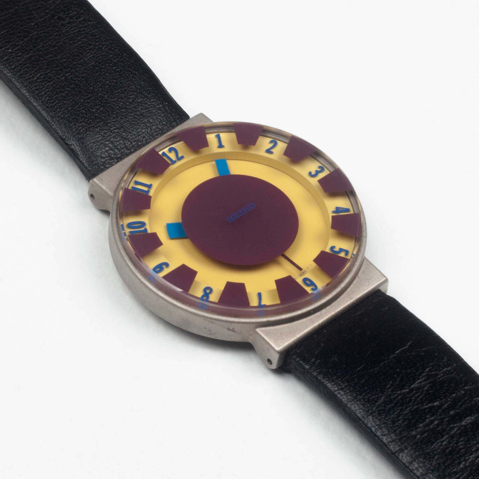 First edition, 1993 Seiko Sottsass wristwatch.