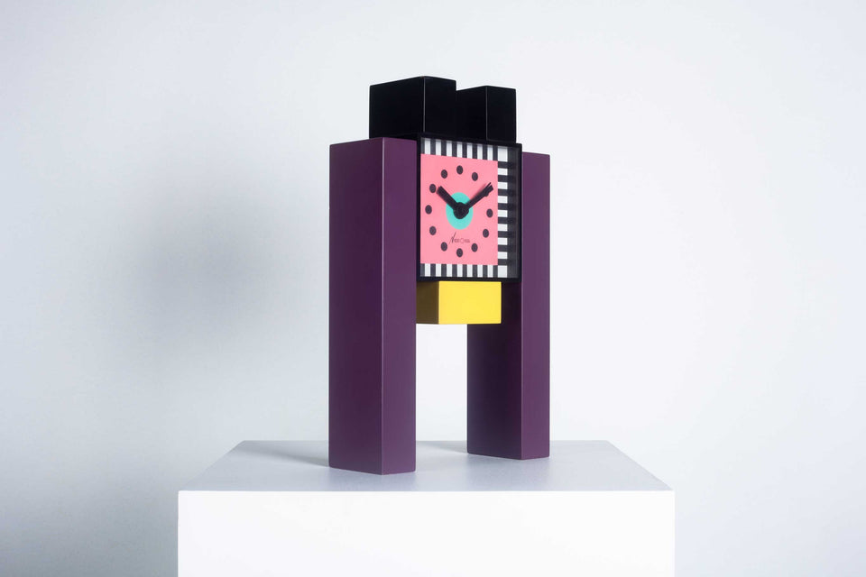 Desk Clock by Nathalie du Pasquier & George Sowden for Neos Lorenz, 1988 Italy