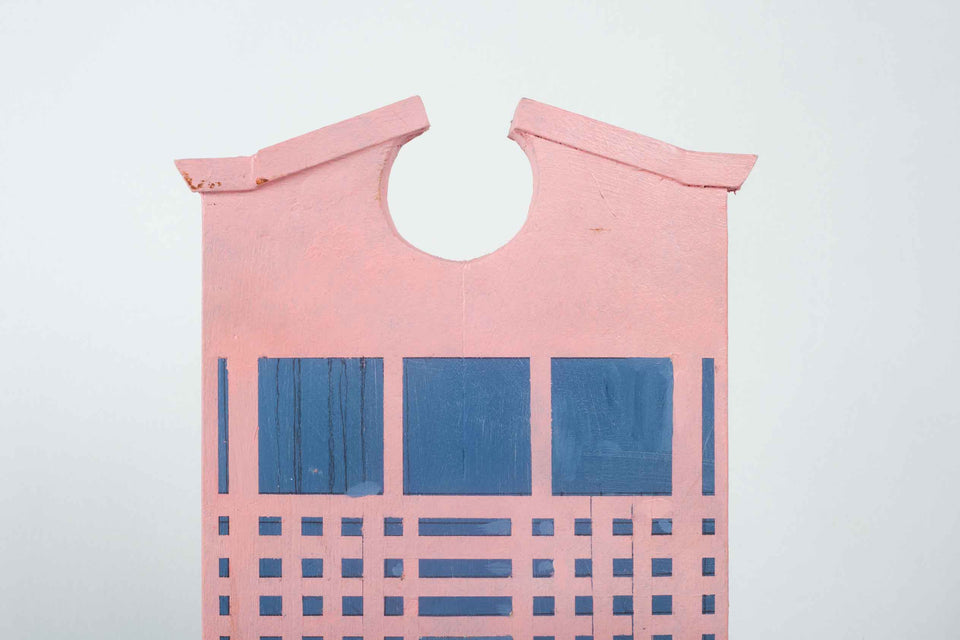 Pink Architectural Birdhouse by Jr Sargenti, 2020 USA