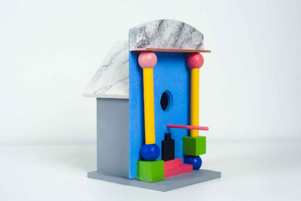 Blue Architectural Birdhouse by Jr Sargenti, 2020 USA