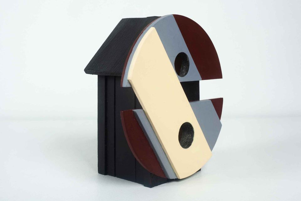 Circular Architectural Birdhouse by Jason Sargenti, 2020 USA