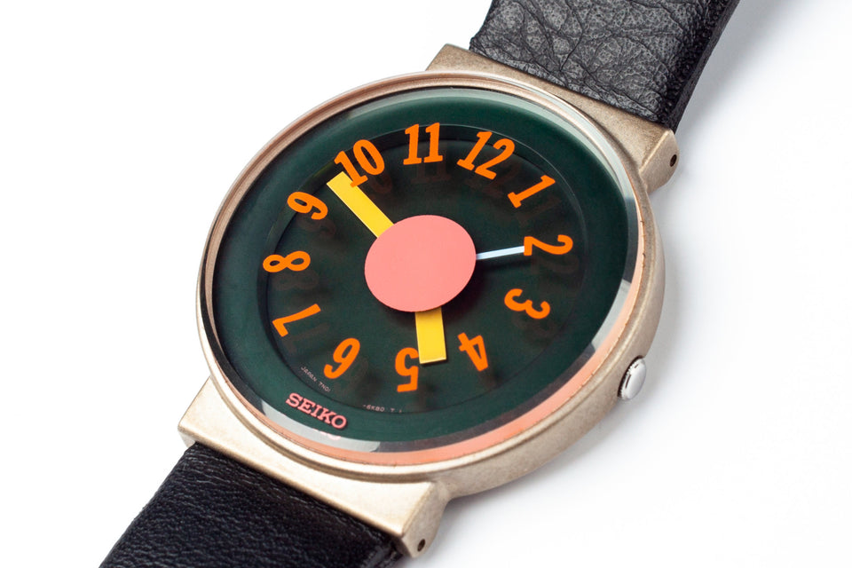 Japanese Ettore Sottsass watch manufactured by Seiko in 1992.
