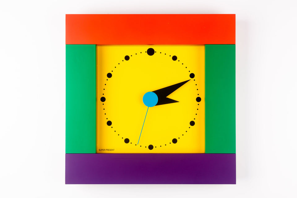 Square Wall Clock by SHOHEI MIHARA for Super Present by WAKITA, Japan, 1980s