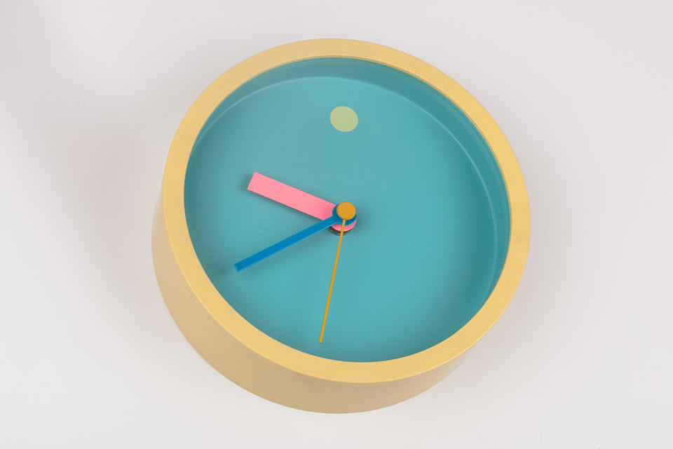 Small round wall clock by Japanese designer Shohei Mihara for Wakita.