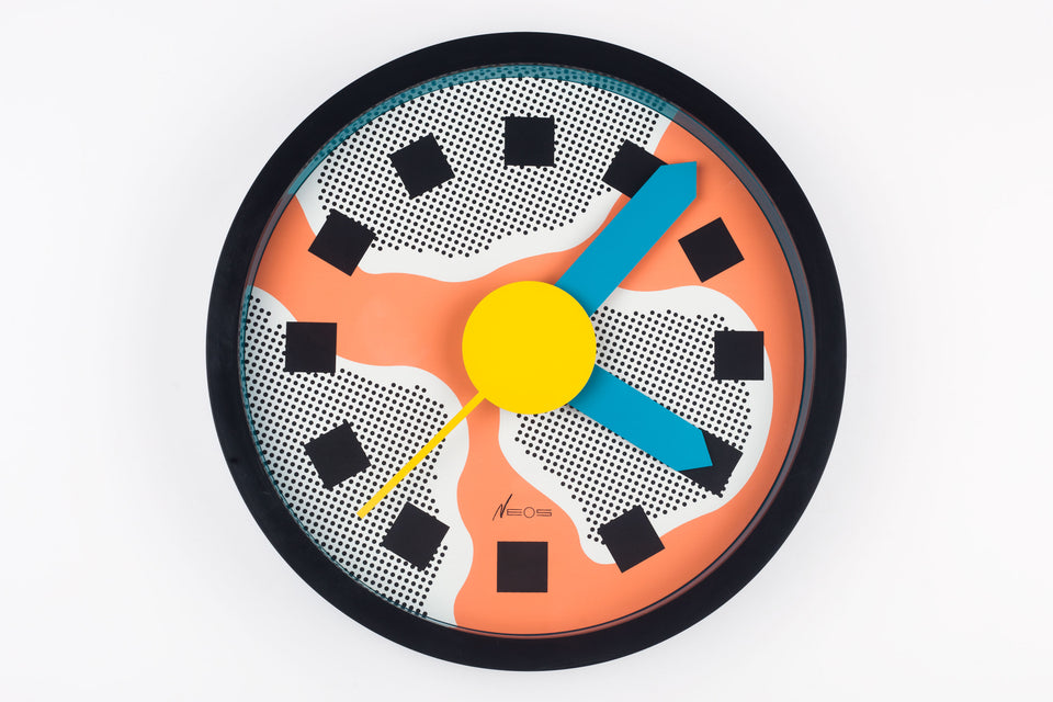 Wall Clock GEORGE SOWDEN & NATHALIE DU PASQUIER for NEOS by LORENZ, Italy, 1980s