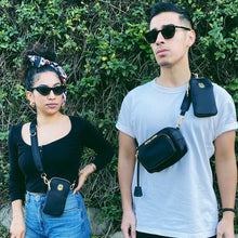 Black Crossbody on Female and Male Models