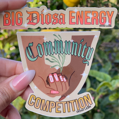 Community Over Competition Sticker Pack
