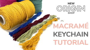 New Origin Shop DIY Macrame Keychain Tutorial