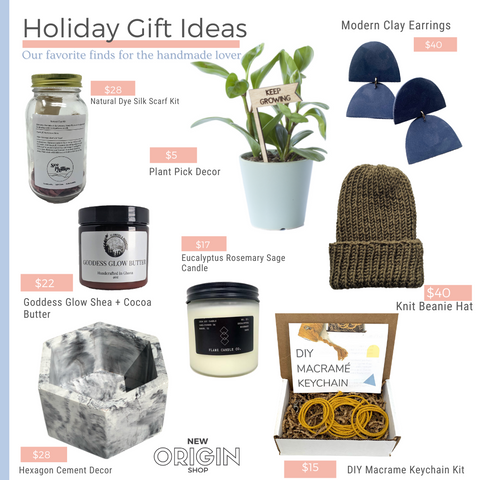 New Origin Shop 2020 Holiday Gift Guide Favorite Gifts for the handmade lover