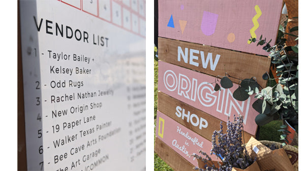 NOS Blog - First Show In Over A Year - Vendor Signs