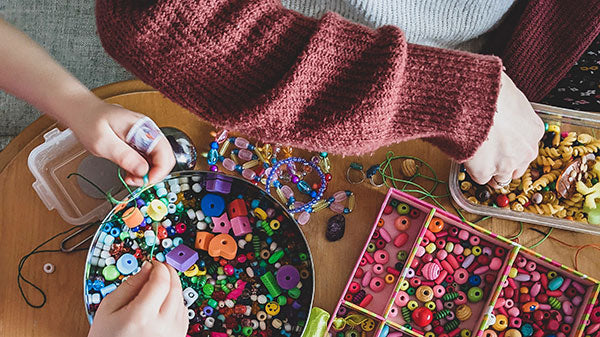 Child and Parent doing crafts