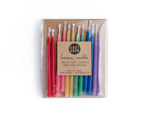 Knot & Bow - Assorted Beeswax Birthday Candles