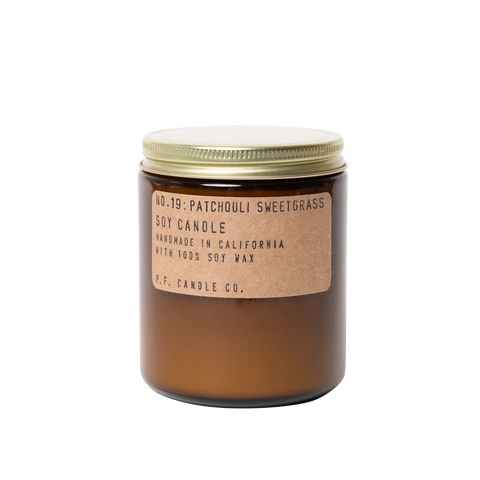 Patchouli Sweetgrass P.F. Candle Co Soy Wax Candle