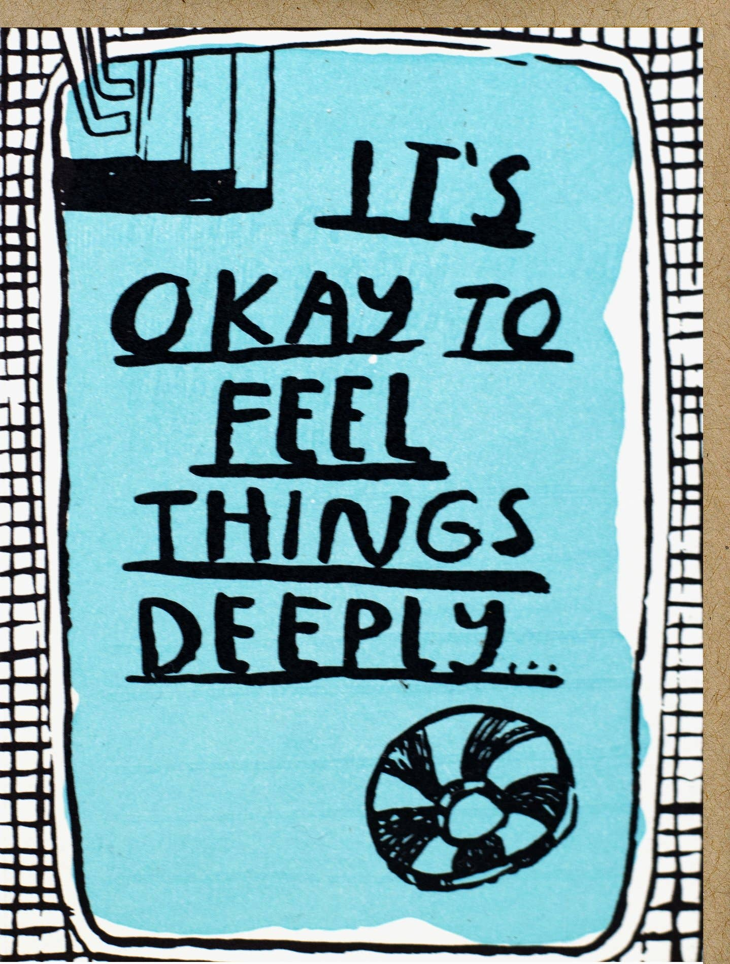 it's okay to feel deeply reassuring stationary card
