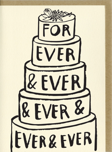 people ive loved letter press wedding card