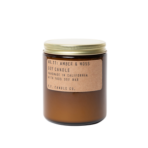 Amber & Moss Soy Wax Cotton Wick P.F Candle