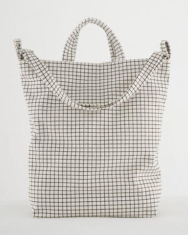 Baggu Brooklyn Duck Bag Natural Grid - New Origin Shop