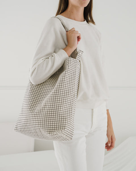 Duck Bag Natural Grid -Tote Bag Baggu