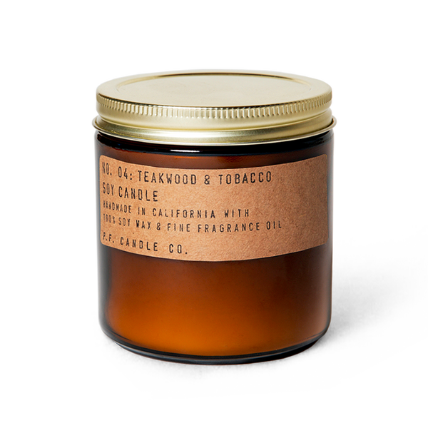 Teakwood & Tobacco Soy Candle - New Origin Shop