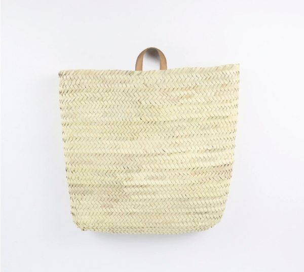 Wall Basket-Natural Handle