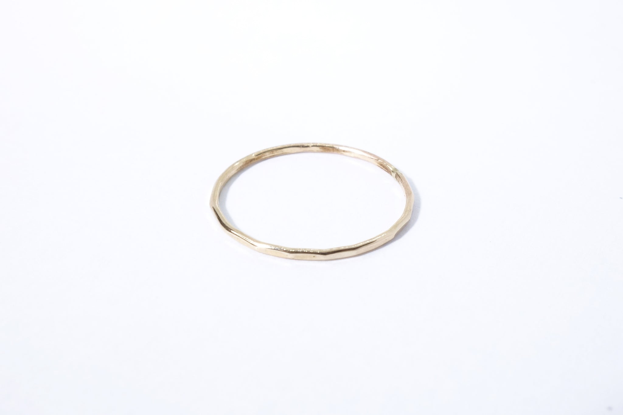 Goldyn Hammered Stacking Band