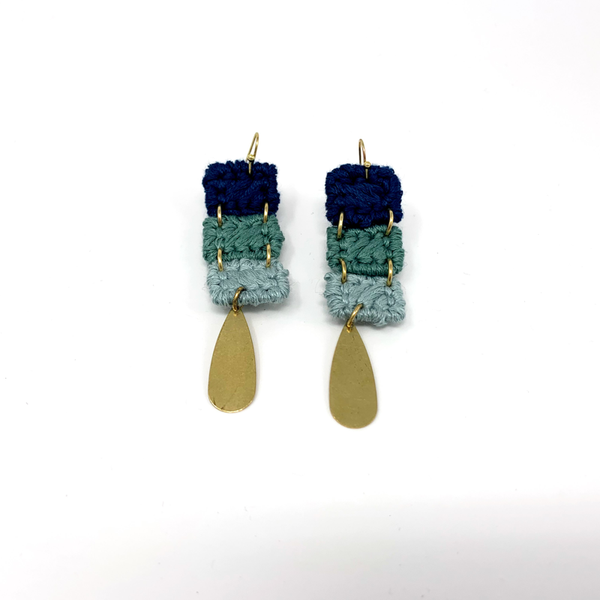 Avalon Dangle Fiber Earring - New Origin Shop