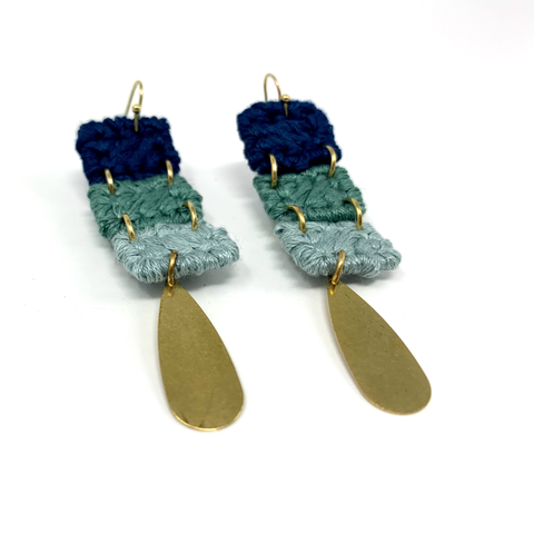 Avalon Dangle Fiber Earring