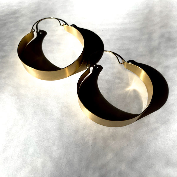 Brass Statement Hoop - New Origin Shop