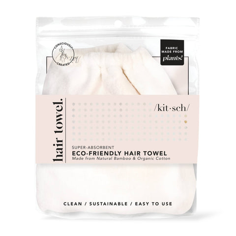 kitsch eco friendly bamboo organic cotton hair towel