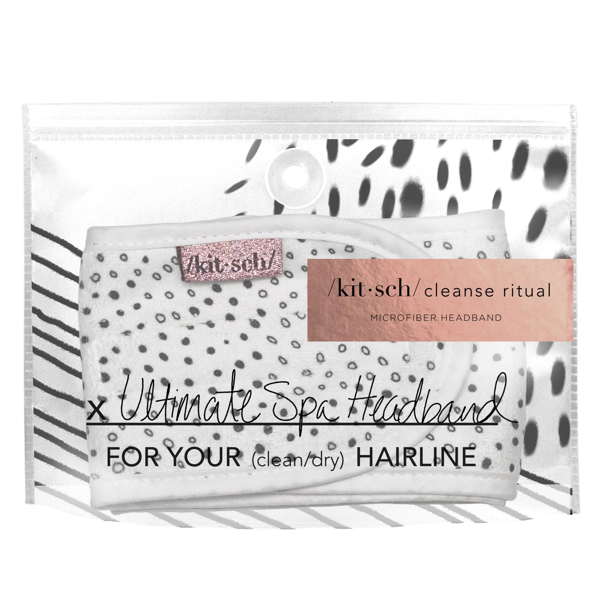 Microfiber Spa Headband - Micro Dot